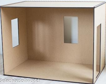 1/4 size unfinished miniature roombox / diorama walls KIT Diy . BJD MSD furniture dollhouse