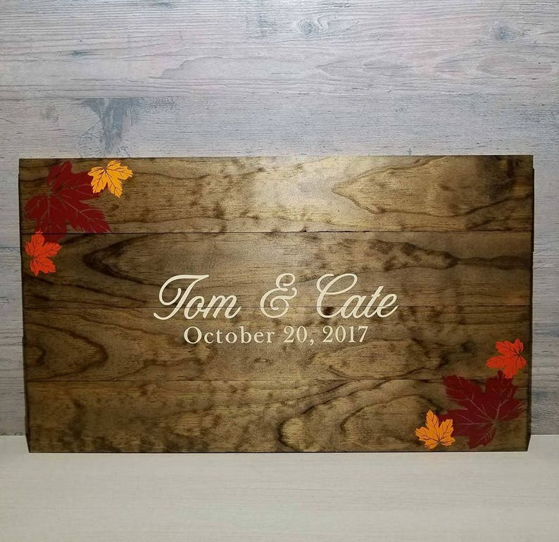 Fall Wedding Guest Book  Rustic GuestBook  Wedding Guest image 0