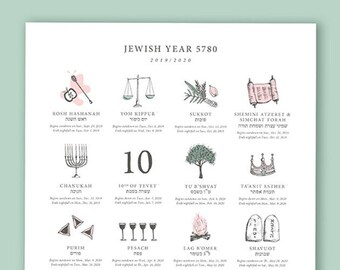 The Jewish Calendar Its Structure and Laws Artscroll Halachah Jewish Holiday Calendar - Year