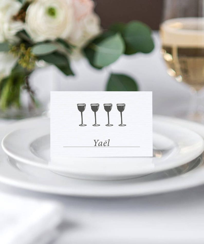 Passover Seder Place Cards  Printable image 0