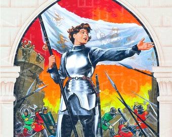 French Vintage Movie Poster JEANNE D'ARC! Vintage Print Ingrid Bergman As Joan Of Arc. Joan Of Arc Digital Download.