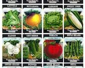 16 Fab Vintage SEED PACKETS. Art Deco LABELS Vegetables Seeds Collage Sheet. Seed Labels Digital Download.