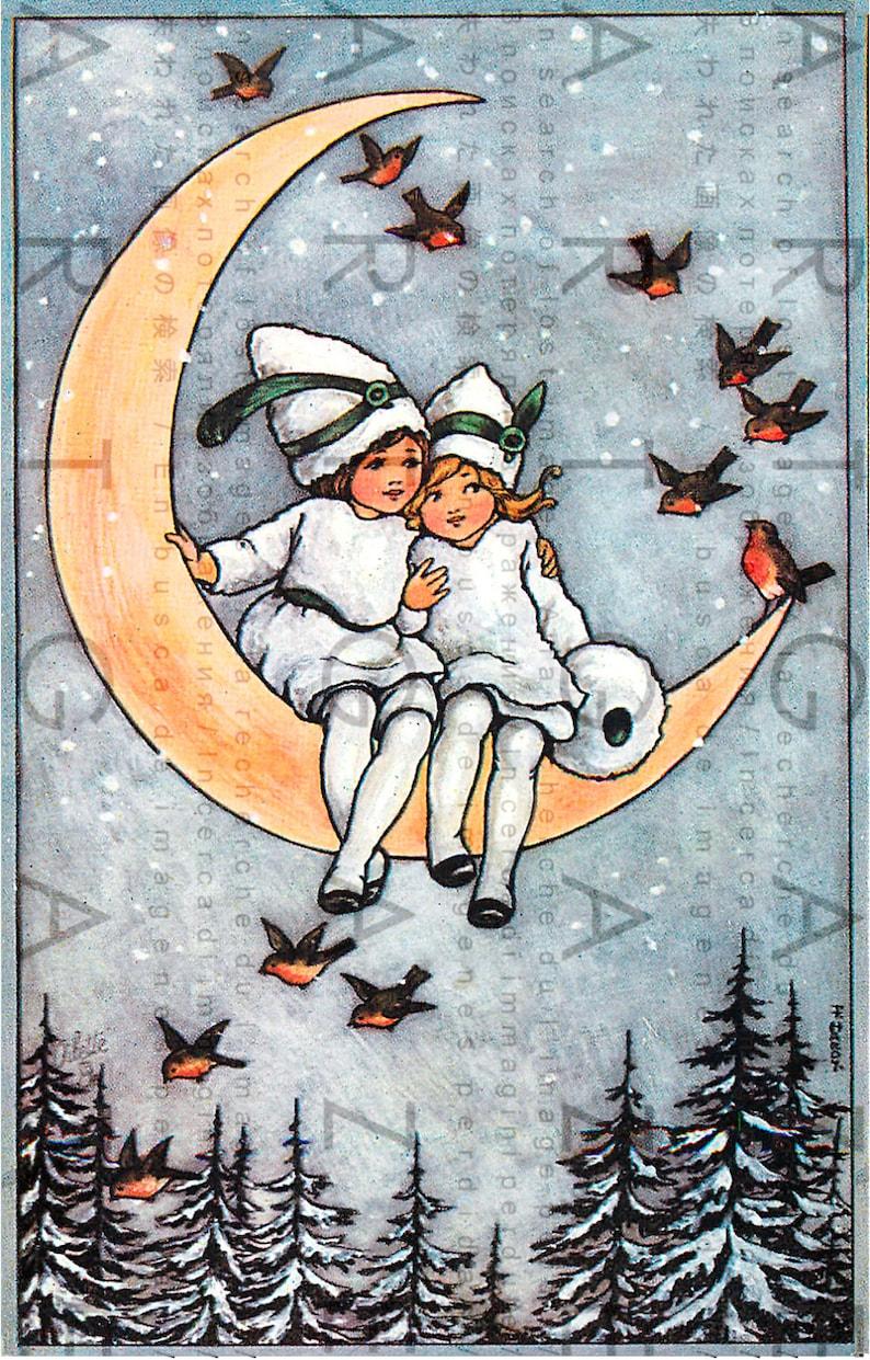 плоды луна зимой советские открытки бамбука долговечного, экологичного