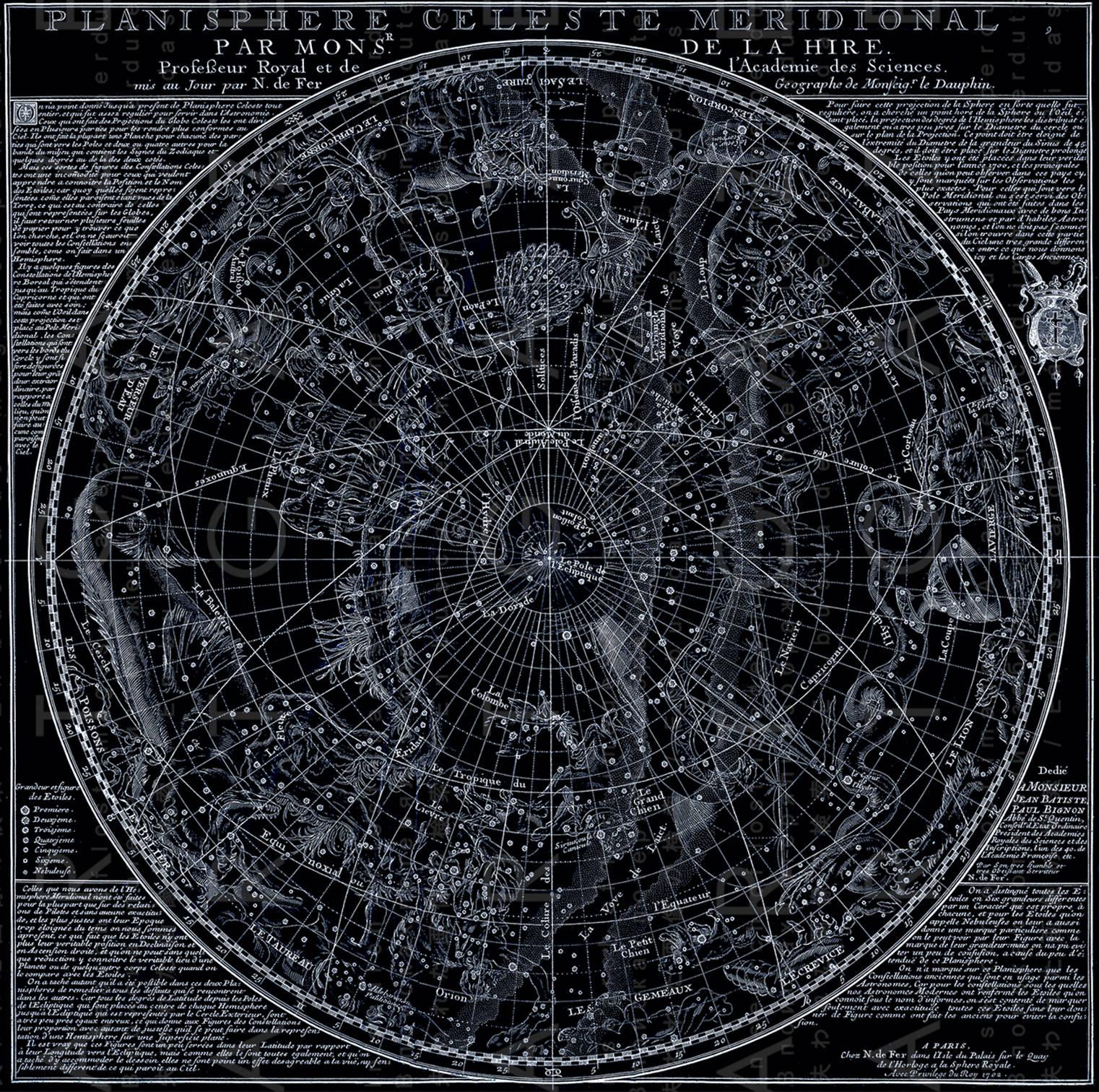 FAB Antique Celestial Print Vintage Constellations Chart