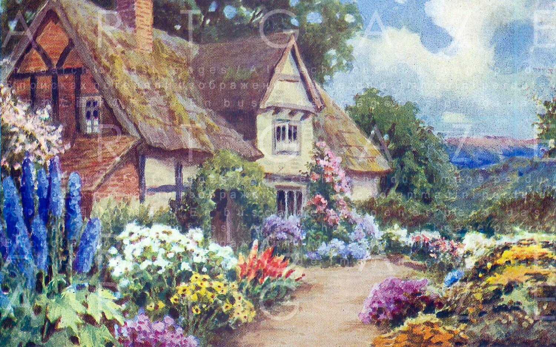 Cozy COTTAGE & Blooming GARDEN. Vintage Cottage ...
