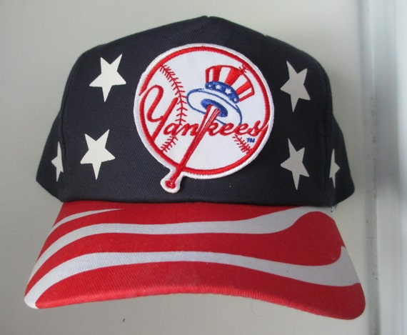 Vintage 80s 90s NEW YORK YANKEES American Flag Pattern  5e269990937