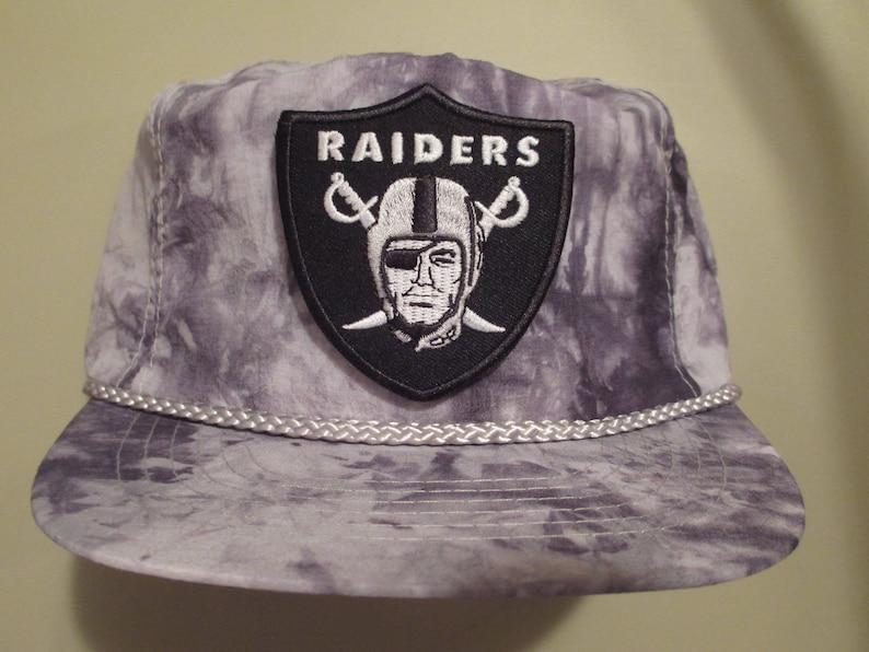 0cce673f Vintage 80s 90s LOS ANGELES RAIDERS Strapback Hat script la snapback  specialties sports acid stone wash nwa rap las vegas oakland hip hop og