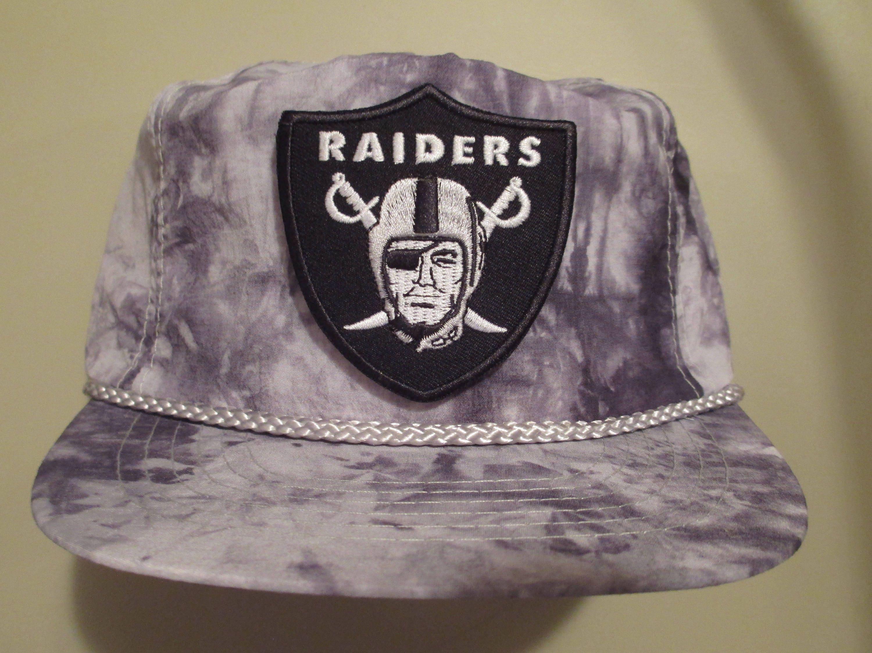 65585e4ff Vintage 80s 90s LOS ANGELES RAIDERS Strapback Hat script la