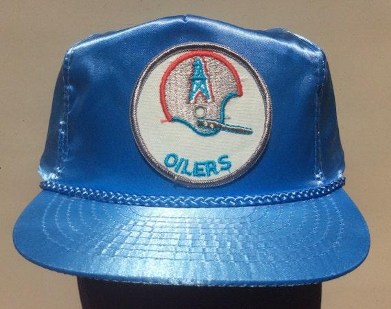 dfbb66e62fe RARE Silver Helmet HOUSTON OILERS Vintage 60s 70s Satin