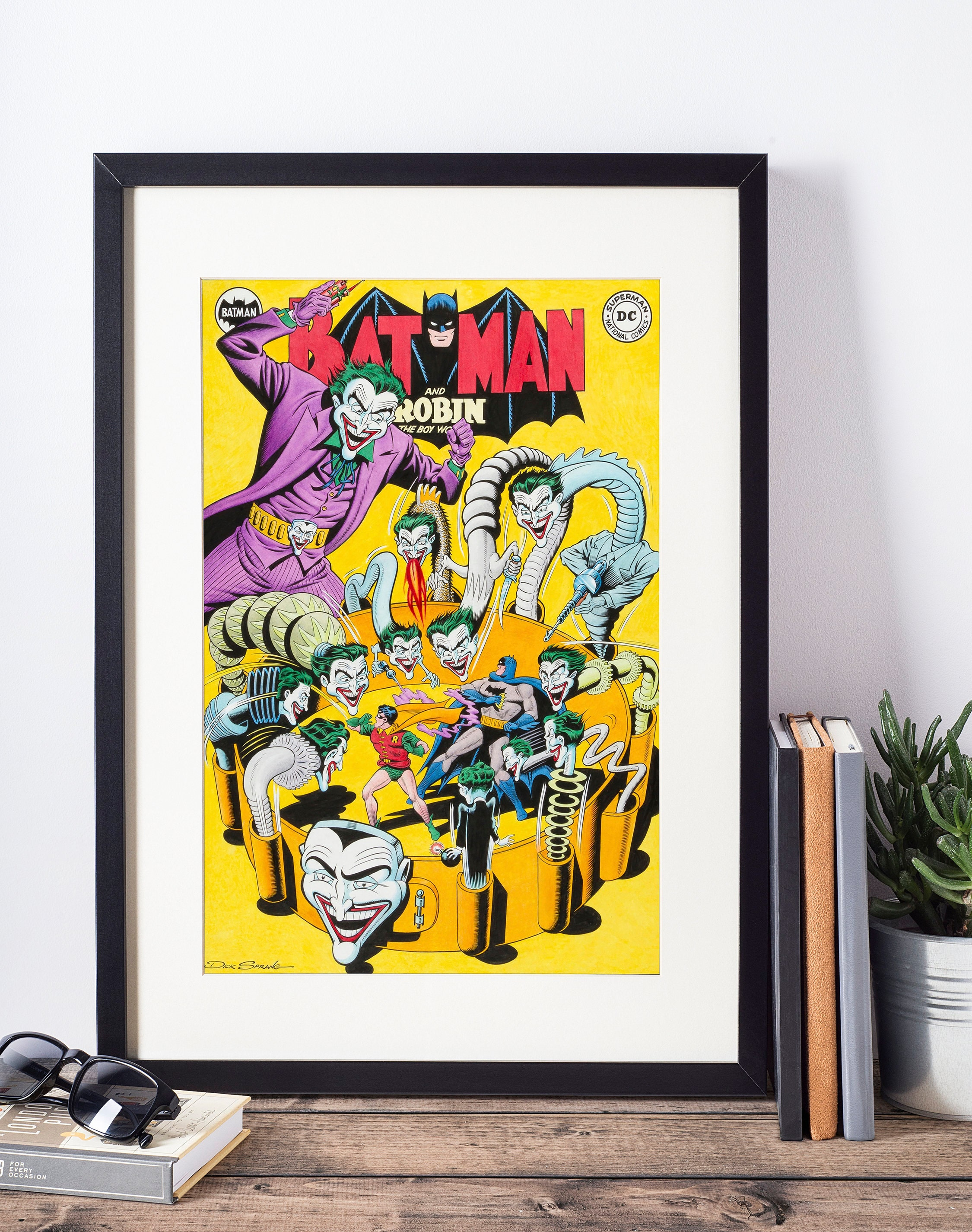 DC Comics Wall Art - Batman and The Joker Cover Print - Matted and ...