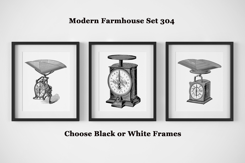Modern Farmhouse Wall Decor, Set of 3 Black and White Prints ...