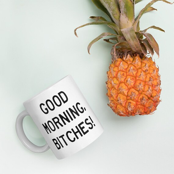 Good Morning Bitches coffee mug Funny printed coffee cup coffee lover gift  adult humor coffee mug morning person free shipping