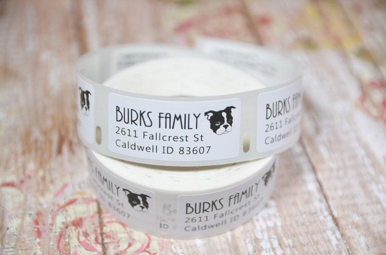 Boston Terrier return address labels 1