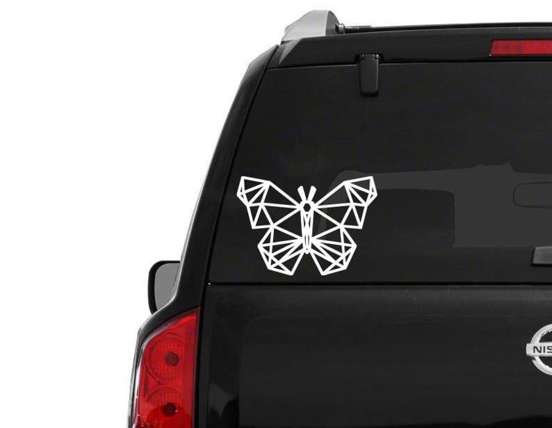 Geometric butterfly sticker \u2022 car window decal \u2022 fast shipping \u2022 any size decal geometric butterfly sticker butterfly decal custom sticker