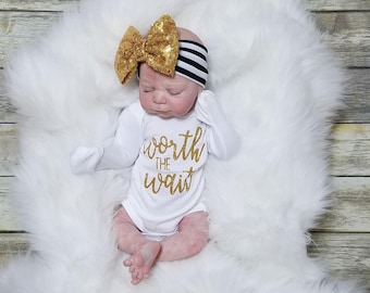 Newborn girl, baby girl, newborn girl outfit, baby girl outfit, coming home outfit, baby headband, baby outfit,