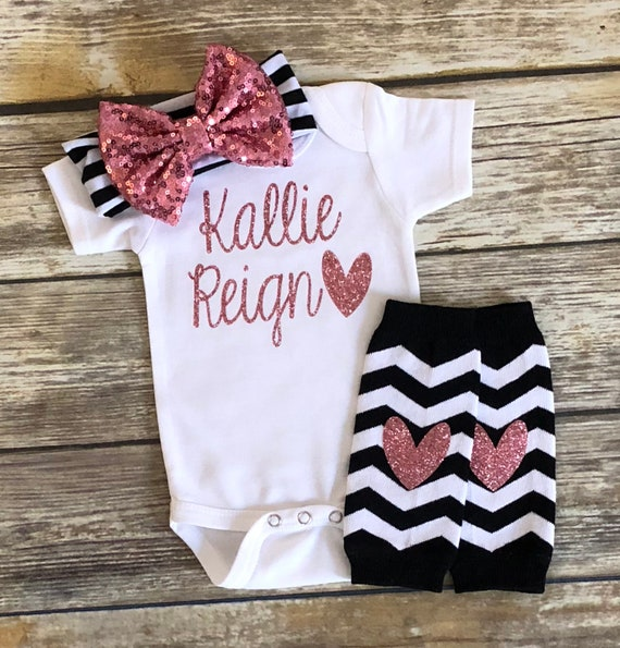 baby girl coming home outfit newborn baby girl take home outfit baby gift baby shower baby girl clothes personalized hospital outfit