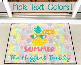 Welcome Mat - Doormat - Custom Doormat - Housewarming Gift - Realtor Gift - Closing Gift - New Couple Gift - Wedding Gift - Pineapples
