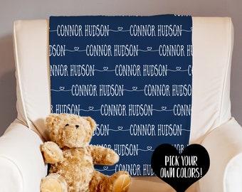 Monogrammed Baby Blanket - Personalized Baby Blanket - Baby Name Blanket - Swaddle Blanket - Baby Shower Gift - Receiving Blanket