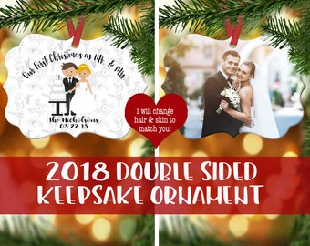 our first christmas married ornament wedding photo ornament wedding ornament newlywed ornament newlywed gift