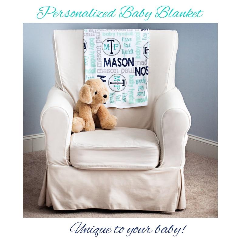 Personalized Baby Blanket  Baby Milestone Blanket  Custom image 0