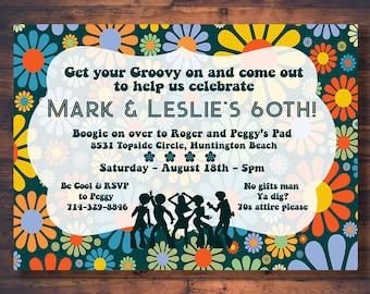 70s party invitation Etsy