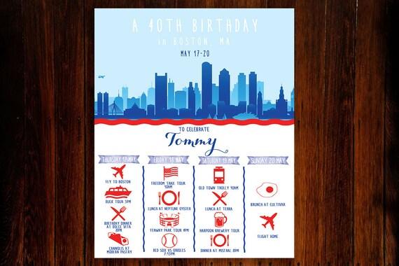 Savannah Georgia Weekend Trip Schedule   Custom Printable File Bachelorette or Bachelor Party Invitation OR Itinerary