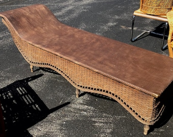 Antique Victorian Wicker Chaise Daybed Heywood Wakefield
