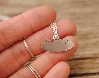 Mountain Range Necklace | Sterling Silver