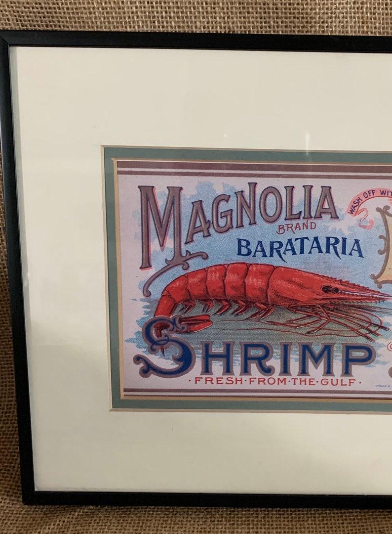 Magnolia Brand Barataria Shrimp Advertisement.