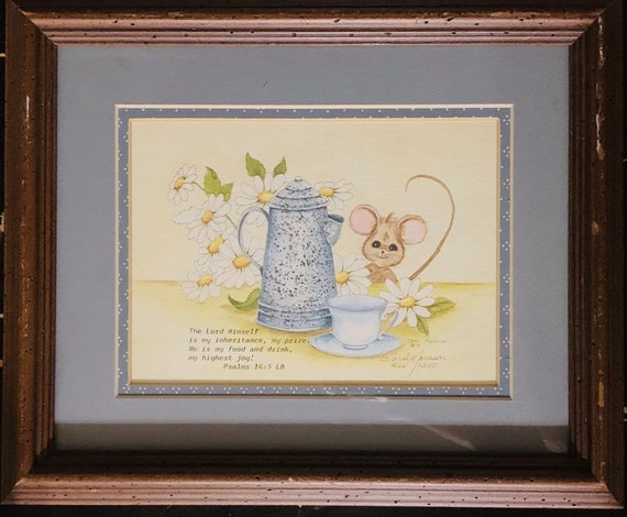 Peg Wheeler Hope Limited Edition Signed and Numbered 41  250. Embossed Hand-Painted Sheep