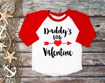 570164959 Daddy's Little Valentine Tee;Valentine's Day Tee;First Valentine's Day  Shirt;1. Valentine's Day Tee;Daddy and Me Tee;Kids Hipster Valentine