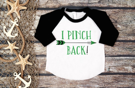 5366dcfd Kid's St. Patrick's TeeI Pinch Back ShirtFunny St. | Etsy