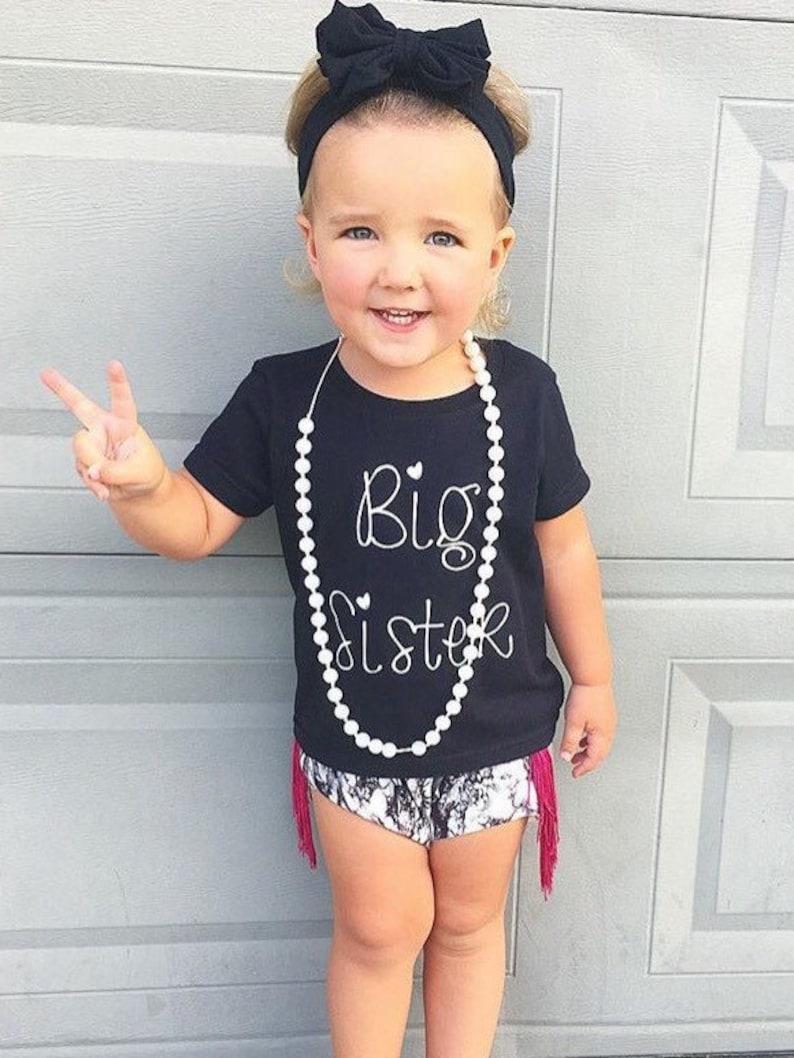 SALE Big Sister ShirtShort Sleeve Black T-shirtKid's image 0