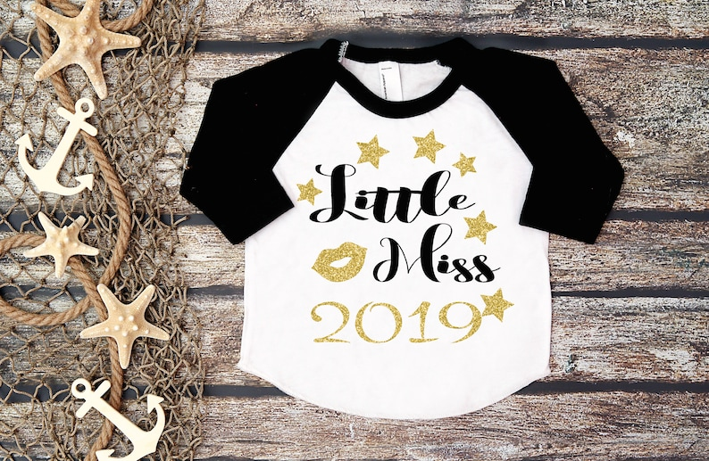 48e96fb15a83 Little Miss 2019New Year's Eve ShirtNew Year's Shirt | Etsy