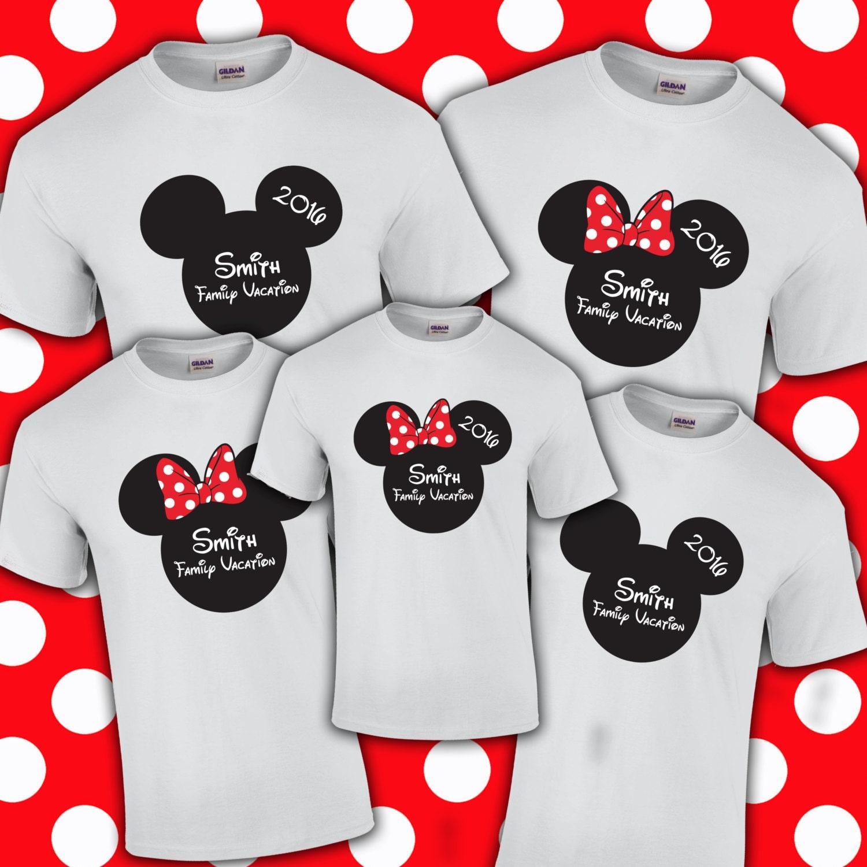 Disney Family Name Vacation Shirts Customized Mickey Etsy