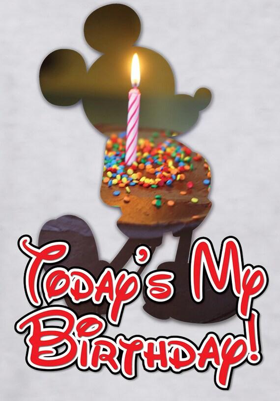 Disney Birthday Shirt Birthday Cake Mickeybirthday Etsy