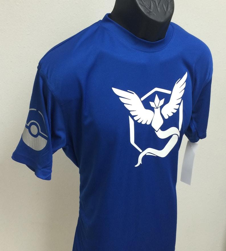38c89e69 Pokemon Go Team Mystic Valor Instinct Dry Fit Shirt w/ | Etsy
