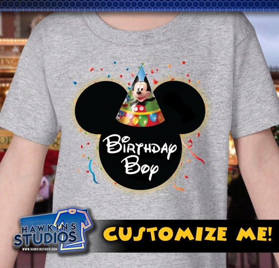Disney Birthday Shirt Customized Boy Or Girl With