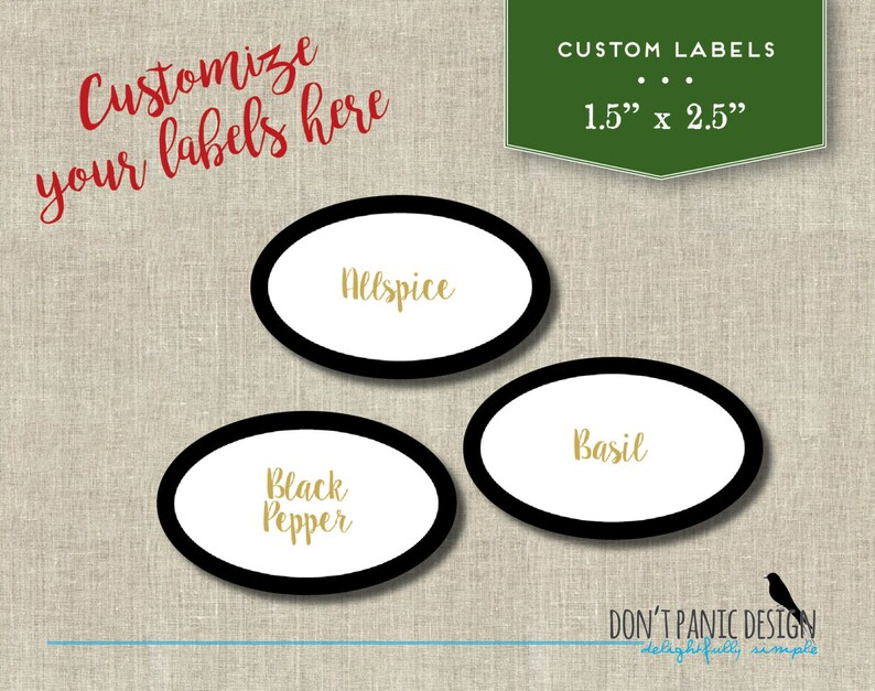 picture about Oval Printable Labels named Oval Printable Spice Jar Labels - Sophisticated Artwork Deco Oval Spice Jar Labels - Do it yourself Property Arranging - Printable Stickers - Customized Labels, Shade