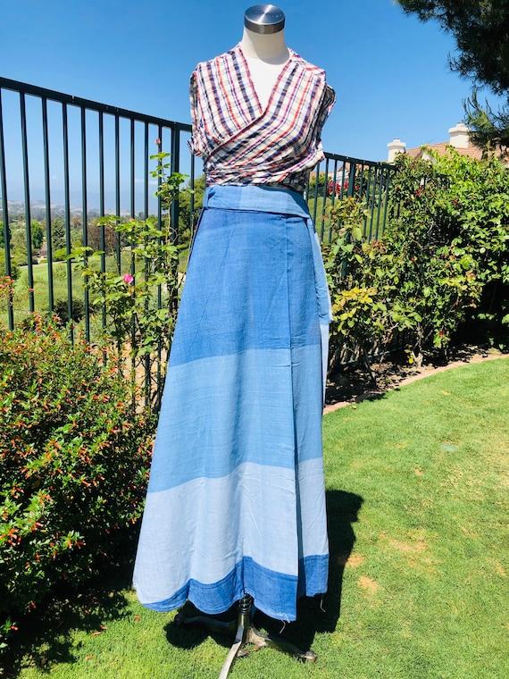 1970s ombré wrap skirt large