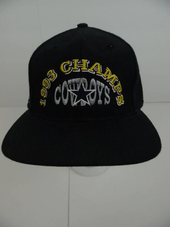 official photos 6c99e 40aec germany ball cap nfl dallas cowboys 1993 champs black etsy a3406 9f22d