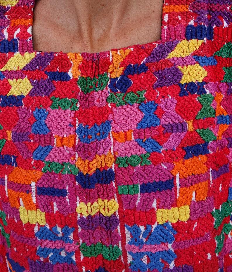 Vintage Mayan Guatemalan Handwoven Textile Huipil from San Pedro