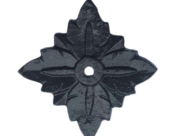 Square Antique Solid Metal Black Decorative Back Plate Base for any Drawer or Door Knob or Pull - BP6