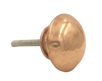 Smooth Copper Round Head Kitchen Drawer Cabinet Pull, Dresser Pulls, Dresser Knobs - i40