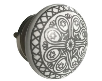 Grey Wheel Flat Knob Pull for Dresser Drawer, Cabinet Drawer Pull, Cabinet Door