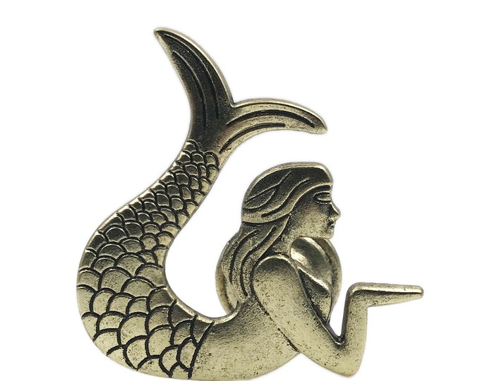 Mermaid Metal Dresser Drawer, Cabinet Drawer or Door Knob Pull - W61