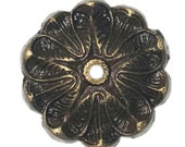 Antique Solid Metal Flower Shaped Round Decorative Back Plate Base (8 COLORS) for any Drawer or Door Knob or Pull - BP7