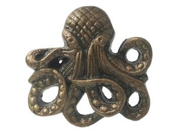 Octopus Ocean Fish Themed Metal Decorative Drawer, Door or Cabinet Pull Knob - M201