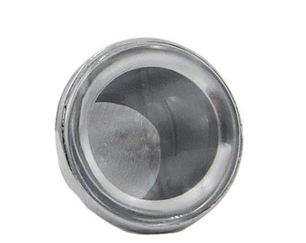 DIY Make Your Own Knobs for Drawer, Door or Cabinets , Clear Glass Cabochon, Glass & Knob Base, 1.5X Magnify - W10