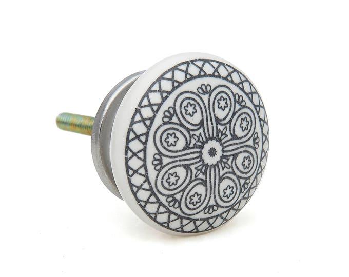 Black Wheel Flat Knob Pull for Dresser Drawer, Cabinet Drawer Pull, Cabinet Door